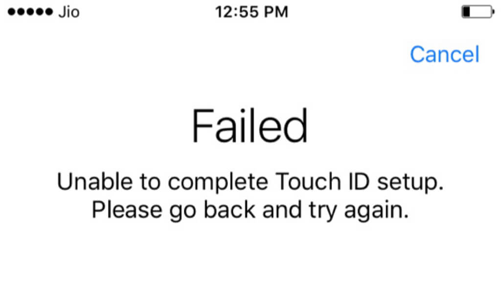 iphone touch id failed
